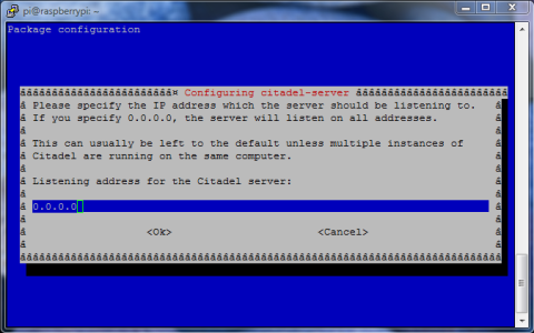 Running a mail server on the Raspberry Pi (Citadel)   Key to