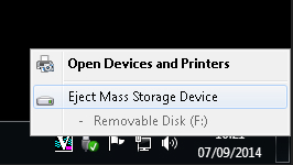 All storage should be removed this way