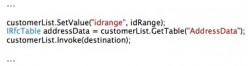 Add idRange to BAPI function