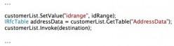 Add idRange to BAPI function