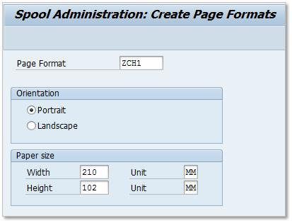 SAP Custom Page Format 1-3