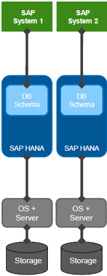 SAP HANA Dedicated Database Deployment Scenario