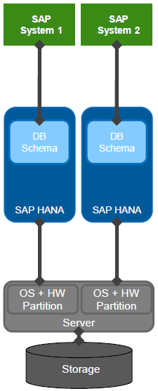 SAP HANA Physical Server Partitioning